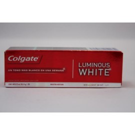 CAJA PASTA DENTAL COLGATE LUMINOUS WHITE DE 22 ML CON 144 PIEZAS - COLGATE-PALMOLIVE