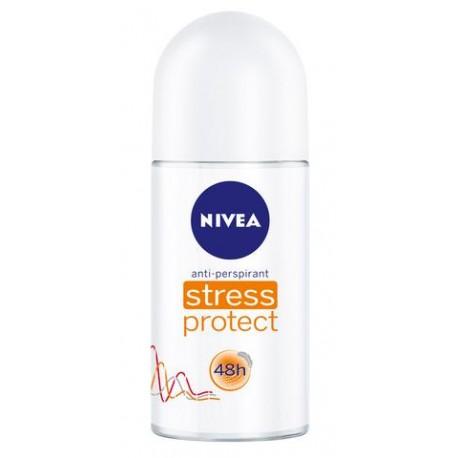 CAJA DESODORANTE NIVEA DEO ROLL STRESS PROTECTION DE 50 ML CON 12 PIEZAS - BEIERSDORF - Envío Gratuito