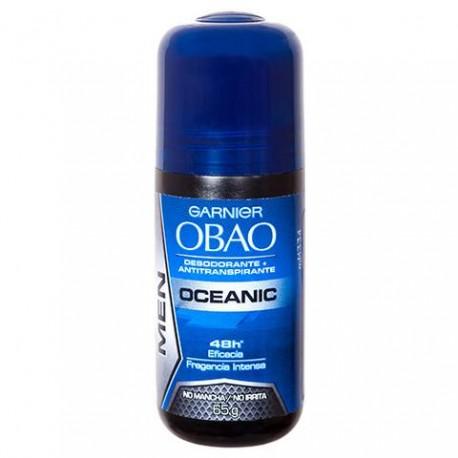 CAJA DESODORANTE OBAO ROLL FOR MAN OCEANICO DE 65 G CON 24 PIEZAS - GARNIER - Envío Gratuito