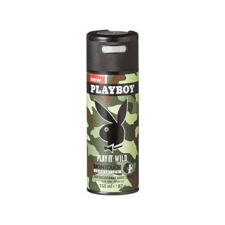 CAJA DESODORANTE PLAY BOY DEO SPRAY PLAY IT WILD DE 150 ML CON 12 PIEZAS - UNILEVER - Envío Gratuito