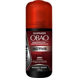 CAJA DESODORANTE OBAO ROLL FOR MAN ACTIVE DE 65 G CON 24 PIEZAS - GARNIER