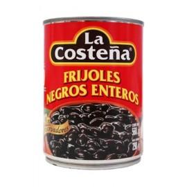MEDIA CAJA FRIJOLES ENTEROS NEGROS DE 560 GRS CON 6 LATAS - LA COSTEÑA - Envío Gratuito