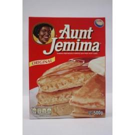 MEDIA CAJA HARINA HOT CAKES AUNT JEMINA QUAKER DE 500 GRS CON 5 PIEZAS - PEPSICO - Envío Gratuito