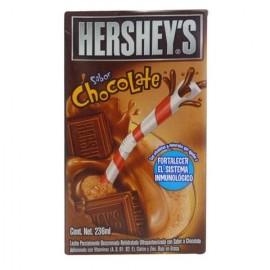 CAJA LECHE HERSHEYS DRINK CHOCOLATE DE 236 ML CON 27 PIEZAS - HERSHEYS