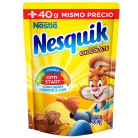 MEDIA CAJA CHOCOLATE EN POLVO NESQUIK BOLSA CHOCOLATE DE 200 GRS CON 5 BOLSAS NESTLE - Envío Gratuito