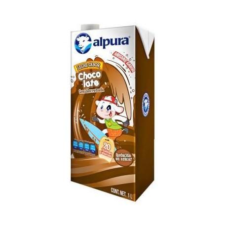 CAJA LECHE ALPURA CHOCOLATE DE 1LT CON 12 PIEZAS - ALPURA - Envío Gratuito