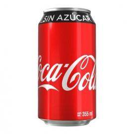 CAJA COCA COLA SIN AZUCAR DE 355 ML CON 12 LATAS - COCA COLA