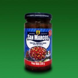 MEDIA CAJA SALSA MEXICANA ROJA DE 215 GRS CON 24 PIEZAS - SAN MARCOS - Envío Gratuito