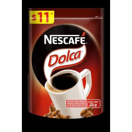 MEDIA CAJA CAFE DOLCA DOY PACK DE 22 GRS EN 10 PIEZAS - NESTLE - Envío Gratuito