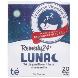 MEDIA CAJA TÉ REMEDY LUNA DE 6 PAQUETES CON 20 PIEZAS - REMEDY