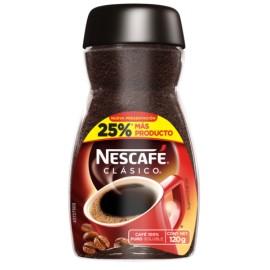 CAJA CAFÉ NESCAFE CLASICO DE 120 GRS EN 12 PIEZAS - NESTLE