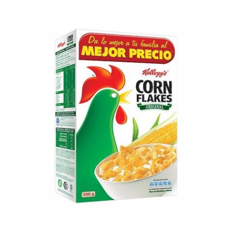 MEDIA CAJA CEREAL CORN FLAKES DE 500 GRS CON 5 PIEZAS - GOLDEN FOODS - Envío Gratuito