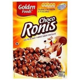 MEDIA CAJA CEREAL CHOCO RONIS DE 500 GRS CON 5 PIEZAS - GOLDEN FOODS