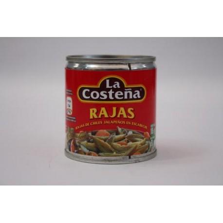 CAJA CHILE RAJAS DE 105 GRS CON 40 LATAS - LA COSTEÑA - Envío Gratuito