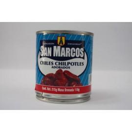 MEDIA CAJA CHILES CHIPOTLES DE 215 GRS CON 12 LATAS - SAN MARCOS
