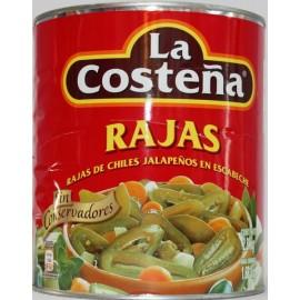 LATA CHILES EN RAJAS DE 2.8 KG - LA COSTEÑA