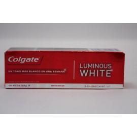 MEDIA CAJA PASTA DENTAL COLGATE LUMINOUS WHITE DE 22 ML CON 72 PIEZAS - COLGATE-PALMOLIVE