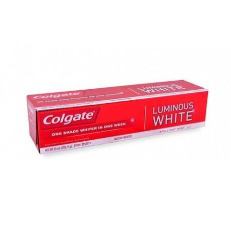 MEDIA CAJA PASTA DENTAL COLGATE LUMINOUS WHITE DE 75 ML CON 24 PIEZAS - COLGATE-PALMOLIVE - Envío Gratuito