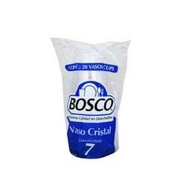 CAJA VASO BOSCO CRISTAL NO. 7 DE 50 PAQUETES CON 20 VASOS - BOSCO