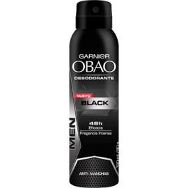 MEDIA CAJA DESODORANTE OBAO SPRAY HOMBRE BLACK DE 150 ML CON 6 PIEZAS - GARNIER