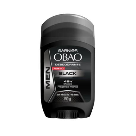 CAJA DESODORANTE OBAO STICK HOMBRE BLACK DE 50 G CON 12 PIEZAS - GARNIER - Envío Gratuito