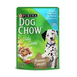 CAJA DOG CHOW POUCH PUPPY POLLO DE 100 GRS CON 24 PIEZAS - PURINA NESTLE
