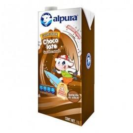 MEDIA CAJA LECHE ALPURA CHOCOLATE DE 1 LITRO CON 6 CARTONES - ALPURA - Envío Gratuito