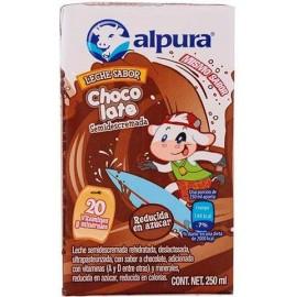 CAJA LECHE ALPURA CHOCOLATE DE 250 ML CON 27 PIEZAS - ALPURA