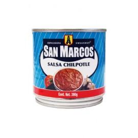 MEDIA CAJA SALSA CHIPOTLE DE 390 GRS CON 12 PIEZAS - SAN MARCOS - Envío Gratuito