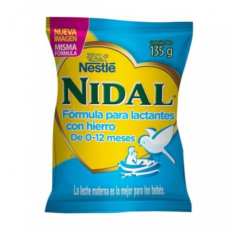 CAJA FORMULA INFANTIL NIDAL BOLSA DE 135 GRS CON 8 PIEZAS - NESTLE - Envío Gratuito