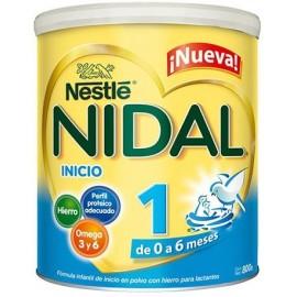 CAJA FORMULA LACTEA NIDAL FORMULA DE 800 GRS CON 12 PIEZAS - NESTLE