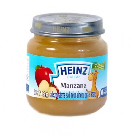 MEDIA CAJA PAPILLA HEINZ DE MANZANA DE 113GRS EN 12 FRASCOS - HEINZ - Envío Gratuito