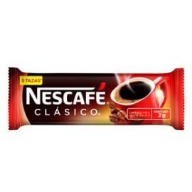 MEDIA CAJA CAFE NESCAFE CLASICO STICK DE 50 SOBRES EN 2 GRS CON 9 PAQUETES - NESTLE