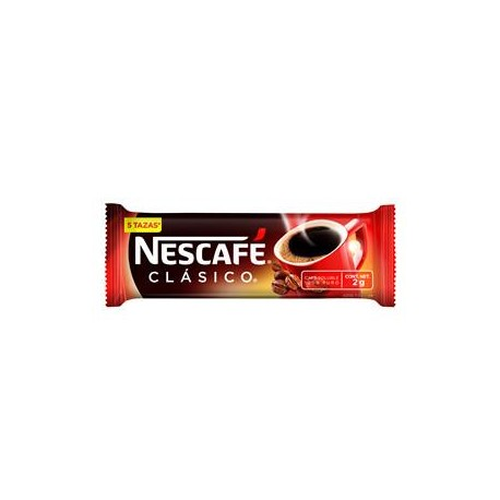 MEDIA CAJA CAFE NESCAFE CLASICO STICK DE 50 SOBRES EN 2 GRS CON 9 PAQUETES - NESTLE - Envío Gratuito