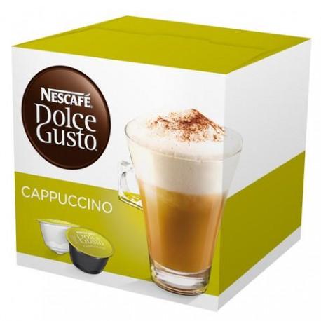 CAJA CAFÉ DOLCE GUSTO CAPUCCINO DE 200 GRS EN 16 CAPSULAS EN 3 PAQUETES NESTLE - Envío Gratuito