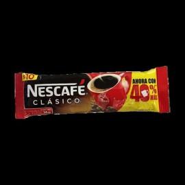 CAJA CAFÉ NESCAFE CLASICO DE 14 GRS EN 3 PAQUETES CON 40 PIEZAS - NESTLE