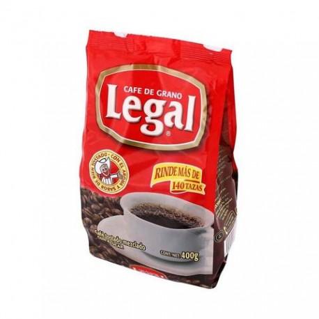 MEDIA CAJA CAFÉ LEGAL TRADICIONAL BOLSA DE 400 GRS CON 12 PIEZAS - SABORMEX - Envío Gratuito
