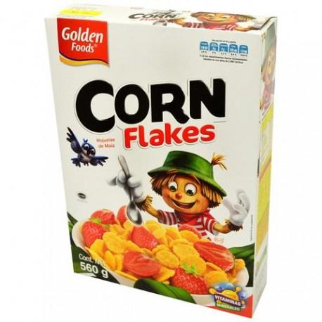 MEDIA CAJA CEREAL CORN FLAKES DE 1 KILO CON 3 PIEZAS - GOLDEN FOODS - Envío Gratuito