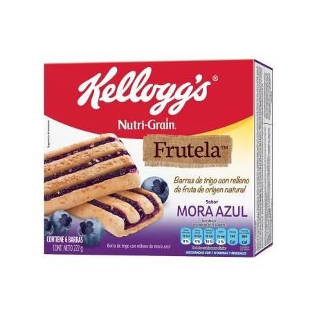 CAJA BARRA NUTRIGRAIN FRUTELA MORA DE 222 GRS EN 12 PIEZAS - KELLOGGS - Envío Gratuito