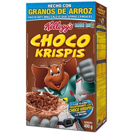 CAJA CEREAL CHOCO KRISPIS DE 490 GRS CON 21 PIEZAS - KELLOGGS - Envío Gratuito