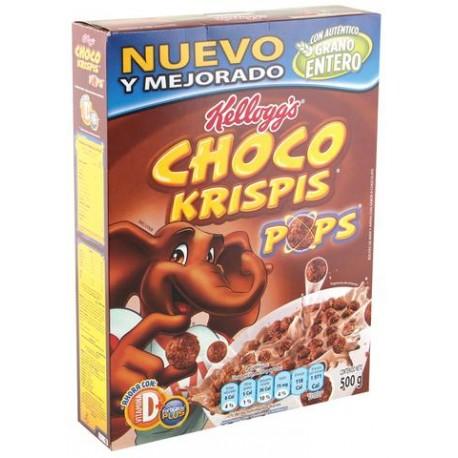 CAJA CEREAL CHOCO KRISPIS POPS DE 500G CON 24 PIEZAS - KELLOGGS - Envío Gratuito
