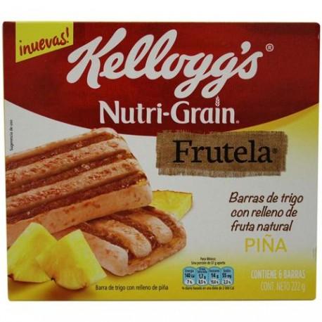 MEDIA CAJA BARRA NUTRI GRAIN FRUTELA PIÑA DE 222 GRS EN 6 PIEZAS - KELLOGGS - Envío Gratuito