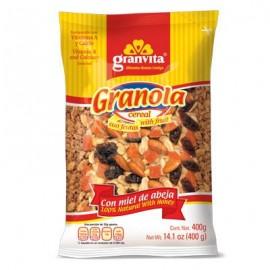 PAQUETE GRANOLA GRANVITA CON FRUTAS DE 400 GRS CON 30 PIEZAS - GRUPO VIDA