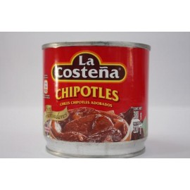 MEDIA CAJA CHILES CHIPOTLE DE 380 GRS CON 12 LATAS - LA COSTEÑA