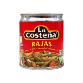 CAJA CHILES RAJAS DE 220 GRS CON 48 LATAS - LA COSTEÑA