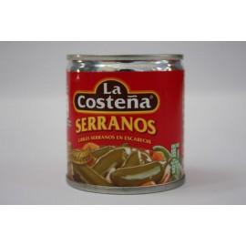 CAJA DE CHILES SERRANOS EN 105 GRS DE 40 LATAS - LA COSTEÑA