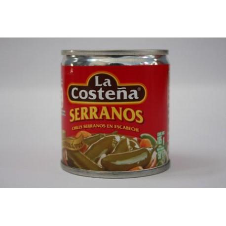 CAJA DE CHILES SERRANOS EN 105 GRS DE 40 LATAS - LA COSTEÑA - Envío Gratuito