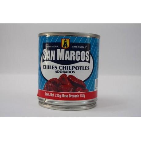CAJA CHILES CHIPOTLES DE 215 GRS CON 24 LATAS - SAN MARCOS - Envío Gratuito