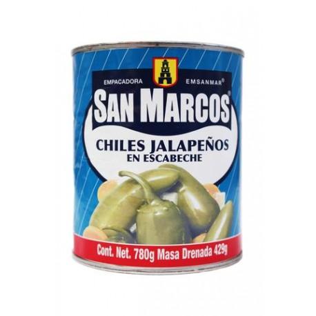 CAJA CHILES JALAPEÑOS DE 780 GRS CON 12 LATAS - SAN MARCOS - Envío Gratuito