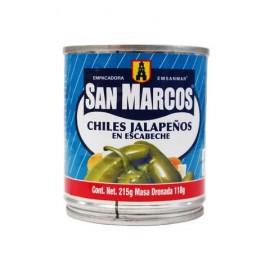 CAJA CHILES JALAPEÑOS SAN MARCOS DE 215 GRS CON 24 LATAS - SAN MARCOS